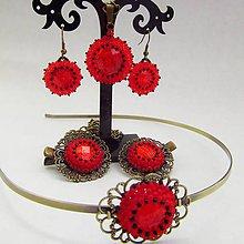 Sady šperkov - Červená souprava - 7444255_