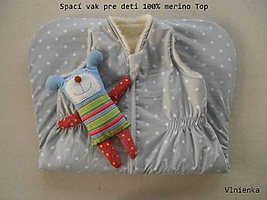Textil - Spaci vak 100% Merino Top s kašmírom na mieru  WOOL - 7441700_