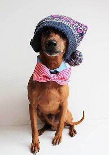Pre zvieratká - Motýlik - na obojok pre psíka - ružový s mini károm - 7444174_