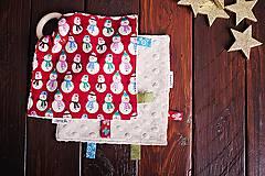 Hračky - Žužláčik vianočný - snehuliaci - 7445357_