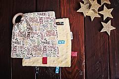 Hračky - Žužláčik - vianočné nápisy - 7445408_