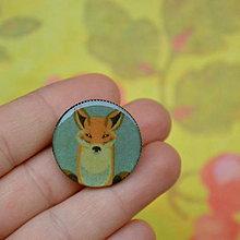 Odznaky/Brošne - Foxes  - brož průměr 25 mm - 7444929_