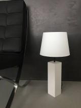 Svietidlá a sviečky - Betónová lampa LUNA -biela - 7443062_