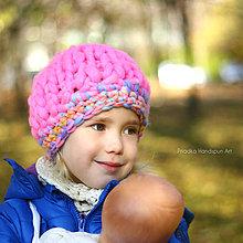 Čiapky - Chunky pletená čiapka