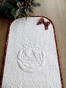 Úžitkový textil - Vianočný obrus bielo-červená kombinácia - 7441521_
