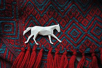 Odznaky/Brošne - Koník biely - 7442204_