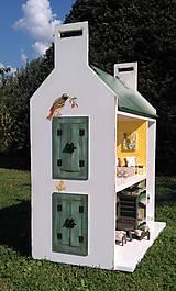 Hračky - domček pre bábiky zelený - 7442567_