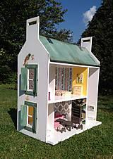 Hračky - domček pre bábiky zelený - 7442568_