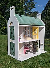 Hračky - domček pre bábiky zelený - 7442569_