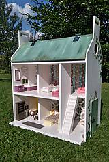 Hračky - domček pre bábiky zelený - 7442570_