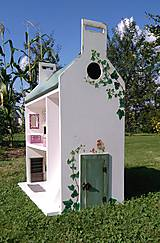 Hračky - domček pre bábiky zelený - 7442571_