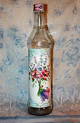 Nádoby - Darčeková fľaša Kvetinová víla - 7445718_