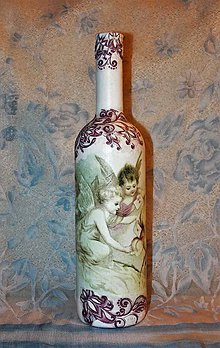 Nádoby - Vianočná fľaša Anjelská pošta - 7446739_
