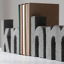 """Dekorácie - Držiak kníh z betónu """"h"""" - 7443766_"""