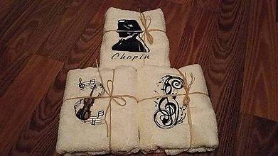Úžitkový textil - Vyšívané uteráky - keď hudba znie - 7444177_