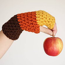 Rukavice - rukavičky Jesenná dúha - 7442444_