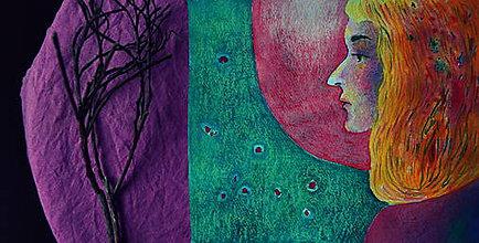 Kresby - Naklonený mesiac - 7441308_