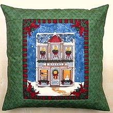 Úžitkový textil - Povlak na vankúš - Vianočný domček I. - 7445037_