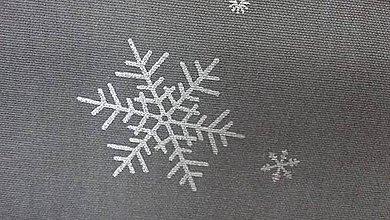 Textil - Tmavošedá so striebornými vločkami š. 150cm - 7444311_