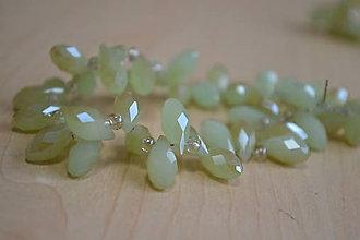 Korálky - Jadeitové sklo - kvapka lemon, 0.12€/ks - 7442734_
