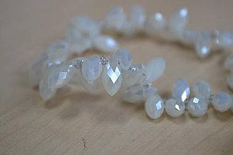 Korálky - Jadeitové sklo - slza alabaster, 0.12€/ks - 7442808_