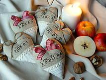 """Dekorácie - srdiečka """"Rodinné Vianoce"""" - 7447012_"""