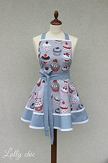 Iné oblečenie - zástera Mufy sivá - 7449711_
