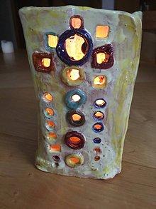 Svietidlá a sviečky - svietnik farebný - 7450492_