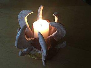 Svietidlá a sviečky - svietnik exotický kvet - 7450613_