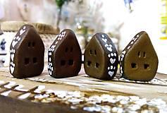 Magnetky - Hnedé domčeky - magnetky - 7447167_