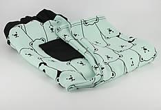 Detské oblečenie - Tepláky Panda tyrkys - 7451648_