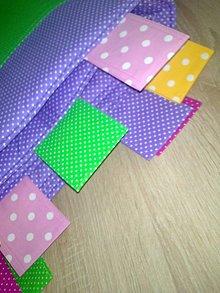 Úžitkový textil - Zástena plná farieb s vreckami..* - 7450951_