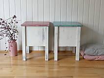 Nábytok - Stolička/skrinka s úložným priestorom Pink&Blue - 7447285_