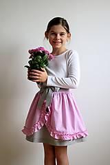 Detské oblečenie - dievčenská sukňa s volánikmi - 7450812_