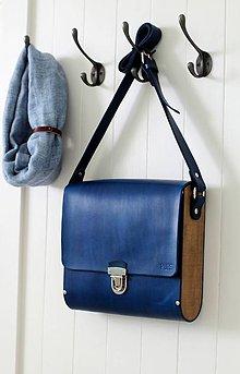 Veľké tašky - Unisex taška MESSENGER LARGE BLUE - 7452225_