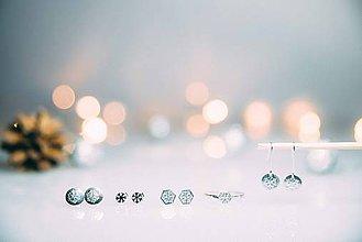 Náušnice - Vianočný minišperk - snehová vločka - 7450682_