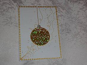 Papiernictvo - Pohľadnica ...vianočná guľa... - 7448560_