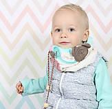 Detské doplnky - Hrejivý detský nákrčník - 7452553_