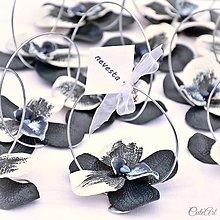 Darčeky pre svadobčanov - Polnočná orchidea - darčeky pre svadobných hostí/menovky - 7449466_