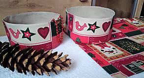 Úžitkový textil - Vianočné košíčky - 7451211_