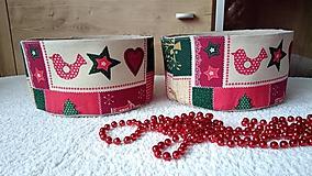 Úžitkový textil - Vianočné košíčky - 7451212_