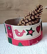 Úžitkový textil - Vianočné košíčky - 7451214_