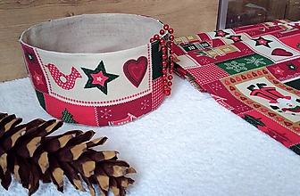 Úžitkový textil - Vianočné košíčky - 7451213_