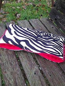 Textil - zebrový rukávnik 2 - 7450495_