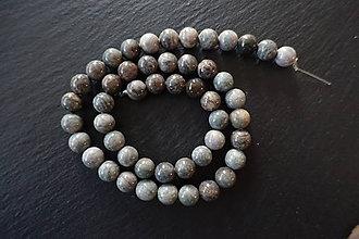 Minerály - Jaspis sivozelený 8mm - 7447745_