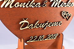 Darčeky pre svadobčanov - Drevene srdiečko ako poďakovanie rodičom 29 - 7449370_