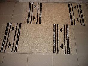 Úžitkový textil - Koberec z ovčej vlny vzorovaný - 7451771_