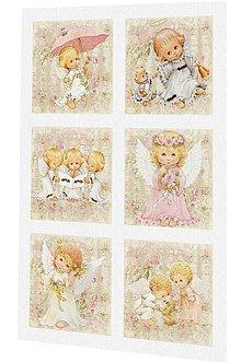 Textil - Vánoční bavlněný panel či sada US62 - 7455246_