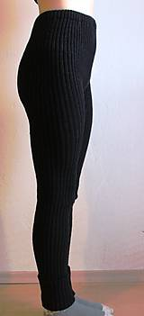 Nohavice - Akrylové kamaše dámske čierne - 7453896_