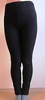 Nohavice - Akrylové kamaše dámske čierne - 7453902_